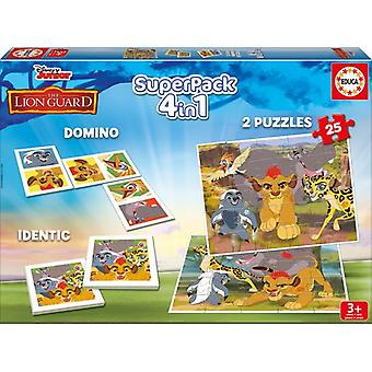 Educa Superpack The Lion Guard (Toys , Boardgames , Traditionals , Puzzles , Skills)