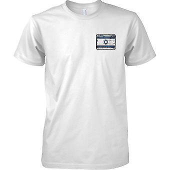 Israel Grunge Grunge efecto bandera - niños pecho diseño camiseta