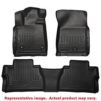 Husky Liners 99581 Black WeatherBeater Front & 2nd Seat FITS:TOYOTA 2014 - 2014