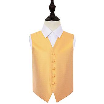 Boy's Marigold Greek Key Patterned Wedding Waistcoat