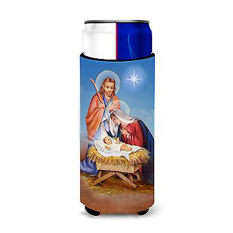 Christmas Nativity Ultra Beverage Insulators for slim cans