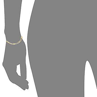 10 k amarillo oro hueco barra Fígaro pulsera y tobillera, 5mm