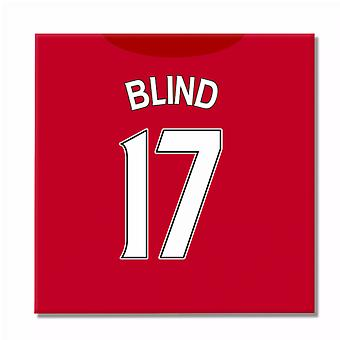2016-2017 Man United Canvas Print (Blind 17)