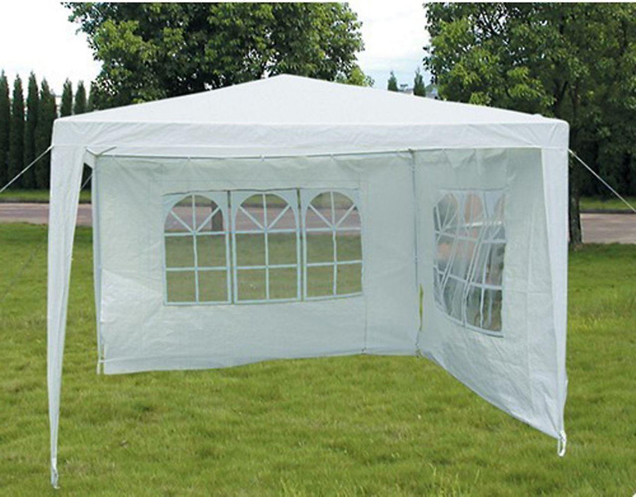 Slimbridge Hartsfield 3 x 3 metres gazebo with 2 sides, White