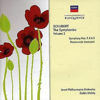 Zubin Mehta - Schubert: Symphonies Nos. 5, 6 & 9 [CD] USA import