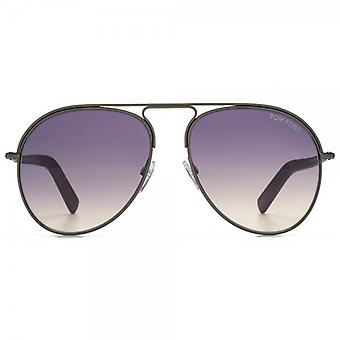 Tom Ford Cody Sunglasses In Shiny Dark Brown