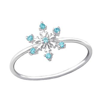 Snowflake - 925 Sterling Silver Jewelled Rings - W33903x