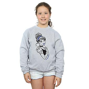 Disney Princess Girls Cinderella Glitter Sweatshirt