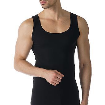 Mey 49100-123 Men's Casual Cotton Black Solid Colour Tank Vest Top