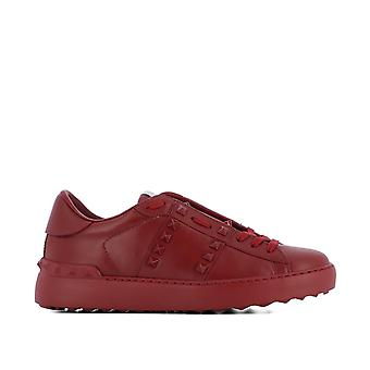 Valentino Garavani ladies PW2S0A01MZD0R0 red leather of sneakers