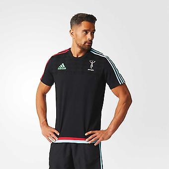 ADIDAS harlequins Cotton Rugby T-Shirt [Black]