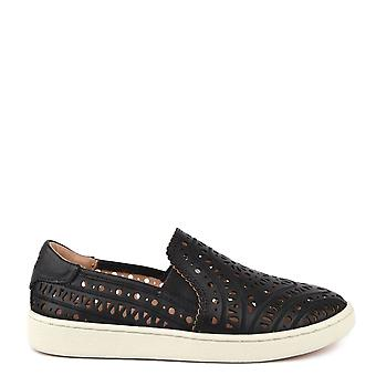 Ugg Cas Black Perforated Slip On Trainer