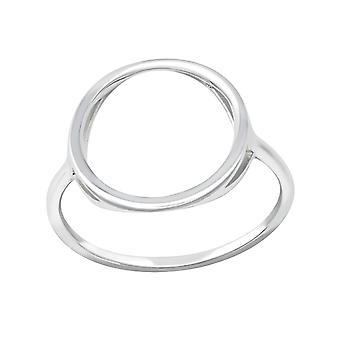Circle - 925 Sterling Silver Plain Rings - W35707x