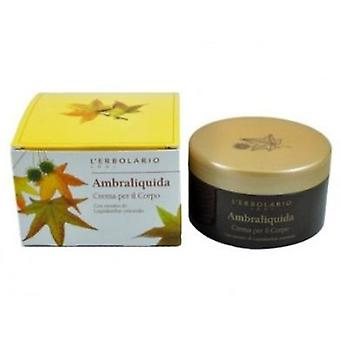 L'Erbolario Ambraliquida Body Cream 250 ml (Cosmetics , Body  , Moisturizing Cream)