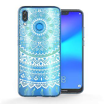 Huawei P20 Lite Mandala TPU Gel Case - mintgroen