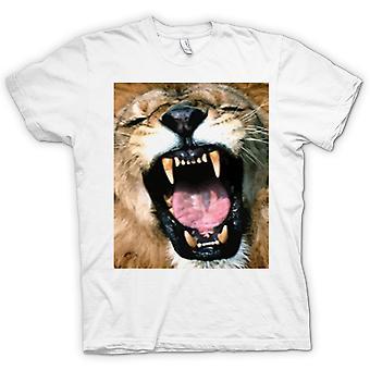 Mens t-shirt-ritratto del leone di urlo