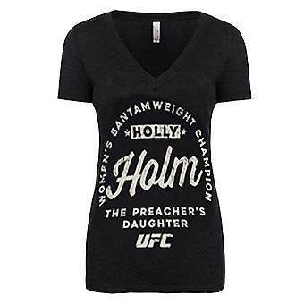 UFC kvinders Holly Holm Bantamvægt Champion T-Shirt-Black