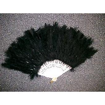 Fans - Feathered Fan in Black. Beautiful for that night out.(1)