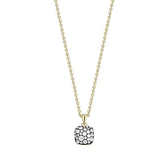 Joop women's chain necklace Silver Gold M PAVE JPNL90769E420