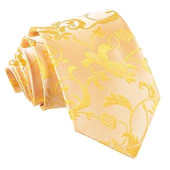 Złoty kwiatowy klasyczny krawat