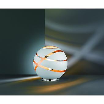 Trio Lighting Faro Modern White Matt Glass Table Lamp