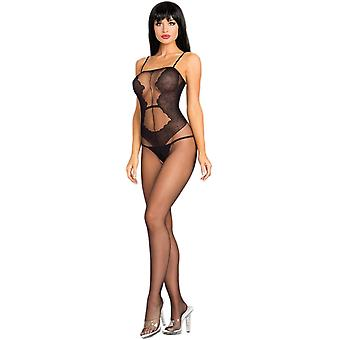Be Wicked BWB95 Opaque crotch-less Bodystocking