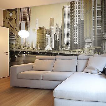 Wallpaper - puente de Chicago (efecto vintage)