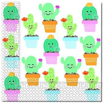Cactus party napkins 33 x 33 cm 20pcs children birthday theme party