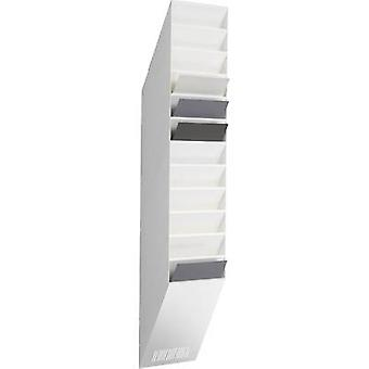 Durable Brochure holder 1709763010 White 240 mm x 1115 mm x 135 mm No. of compartments 12