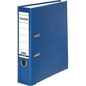Falken mapp FALKEN PP-färg A4 ryggraden bredd: 80 mm blå 2 fästen 9984063