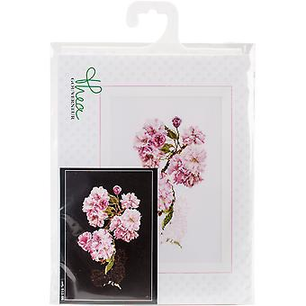 Prunus On Aida Counted Cross Stitch Kit-11.75