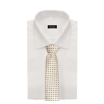 Hals tie slips bånd bindemiddel bred 8 cm sort og guld mønstrede Fabio Farini