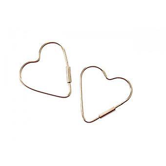 925 silver örhängen hjärta hjärta örhängen MILOSA Silver Örhängen