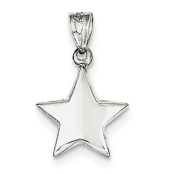 Sterling Silver Hollow polido Star encanto - 1,1 gramas