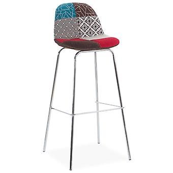 Wellindal Metal Cover Stool Patchwork Upholstery (Furniture , Stools)