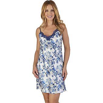 Slenderella GL2770 Women's Floral Satin Floral Night Gown Loungewear Nightdress