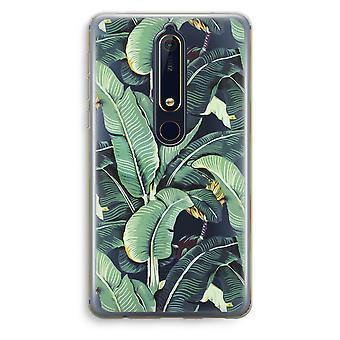 Nokia 6 (2018) Transparent Case - Banana leaves