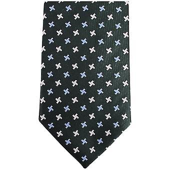 Knightsbridge Neckwear Kensington Cross Silk Tie - Dark Green