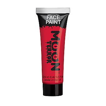 Moon Terror - Halloween Face Paint for the Face & Body - 12ml - Create spooky face paint designs! Perfect for vampire, ghost, skeleton, witch, pumpkin, monster etc - Blood Red