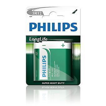Philips LongLife Akku 4, 5V 3R12L1B Zink-Kohle