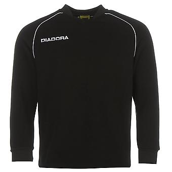 Diadora Mens Madrid Sweatshirt Jumper Pullover Top Long Sleeve Crew Neck Regular