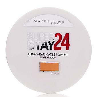 Maybelline Super verblijf 24 h waterdichte poeder 9 g 21 naakt