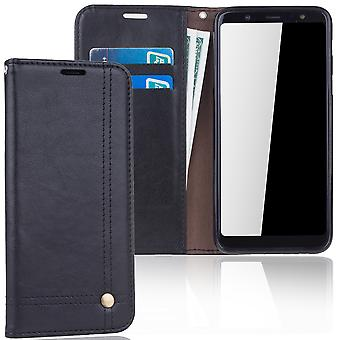 Cell phone cover case for Samsung Galaxy A6 plus 2018 cover wallet Pouch Black