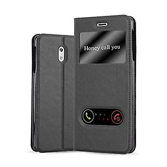 Cadorabo case for Nokia 3 2017 - mobile case with stand function and 2 Windows - case cover sleeve pouch bag book Klapp style