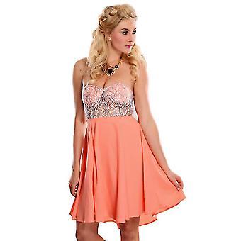 Waooh - mode - jurk korte bustier en lace