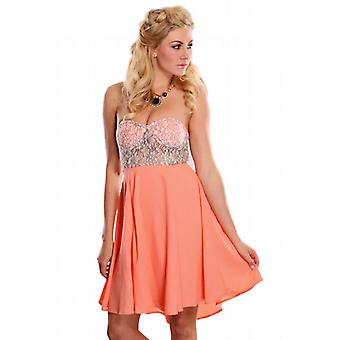 Waooh - Fashion - Short strapless Lace Dress