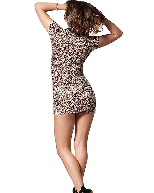 Waooh - Lingerie - leopard chemise with lace