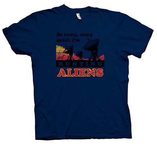 Heren T-shirt - SETI - UFO - Alien jagers - astronomie