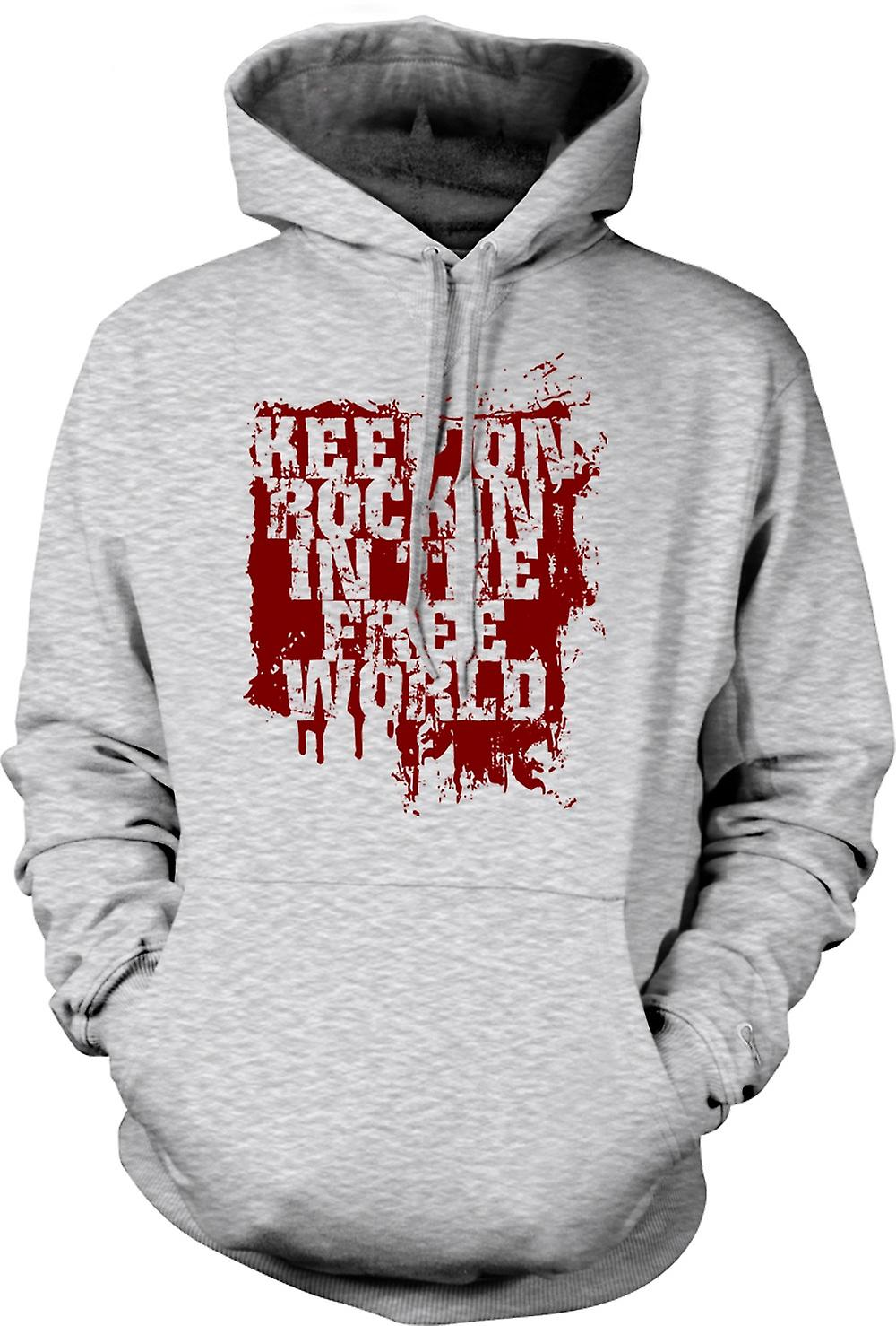 Mens Hoodie - Keep On Rockin In The Free World