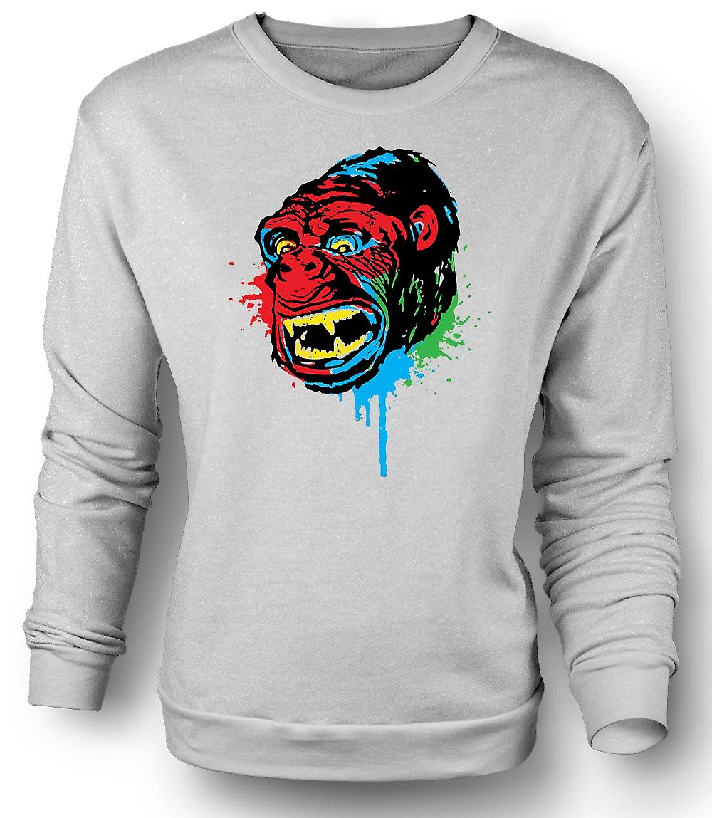Felpa Mens Pop Art - scimmia Gorilla - Cool Design